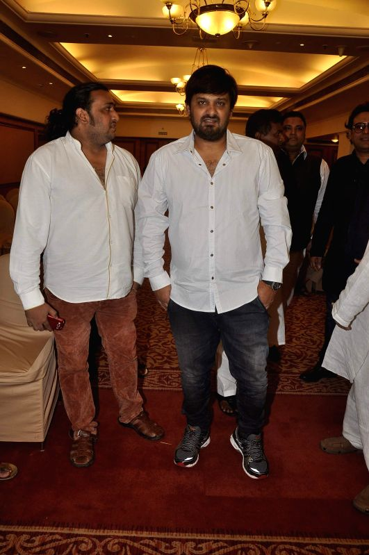 Music composer Wajid Khan during the launch of Indian National Anthem video, in Mumbai on Aug 15, 2014. - Wajid Khan