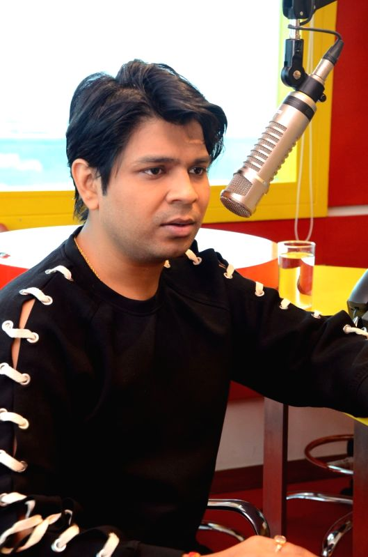 Music director Ankit Tiwari at Radio Mirchi. - Ankit Tiwari