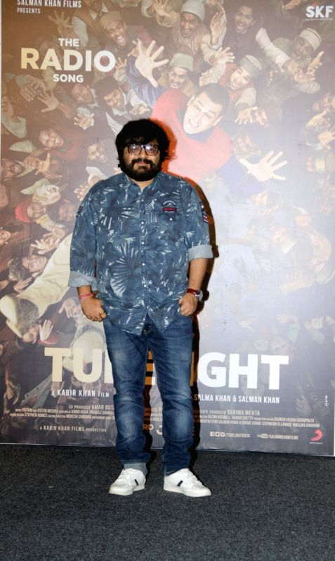 Music director Pritam Chakraborty during the launch of first song of the film Tubelight, 'The Radio Song' in Mumbai on May 12, 2017. - Pritam Chakraborty
