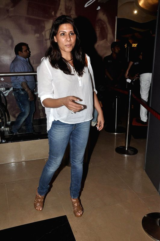 Music director Sulaiman Merchant's wife Reshma during the screening of Hollywood film The Hundred-Foot Journey in Mumbai on August 7, 2014.