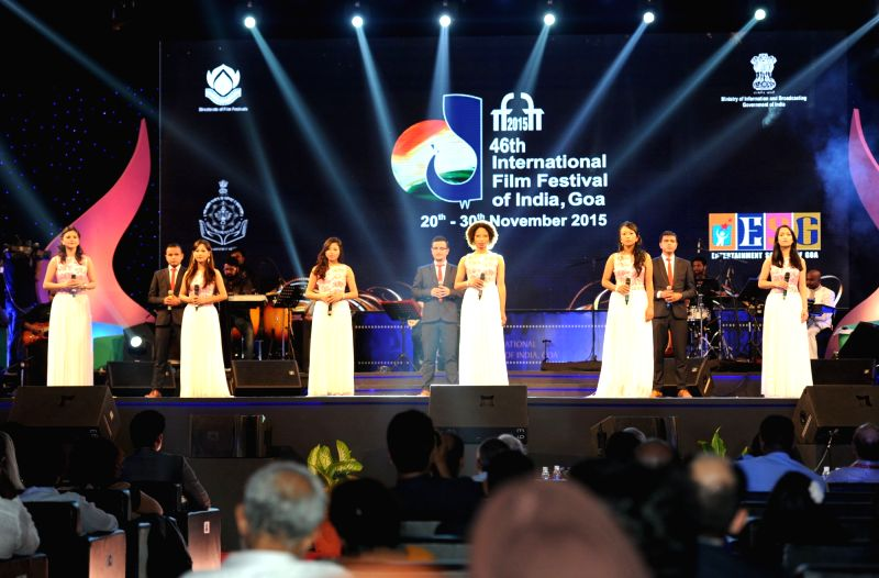 Music performance at the closing ceremony of the 46th International Film Festival of India (IFFI-2015), in Panaji, Goa on Nov 30, 2015.