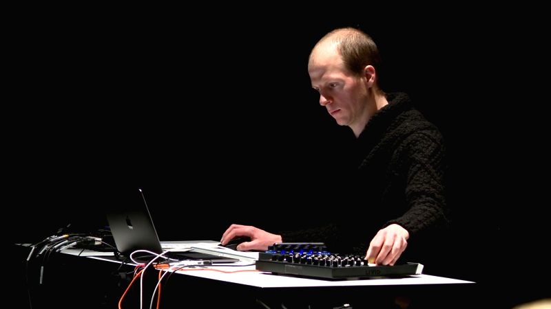 "Musician Marcel Zaes performing ""Pulsations"
