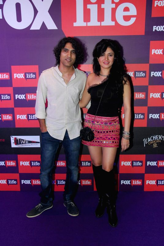 Musician Naresh Kamath and actor Sonal Sehgal during the launch of Fox Traveller`s new television channel Fox Life in Mumbai on July 16, 2014. - Sonal Sehgal