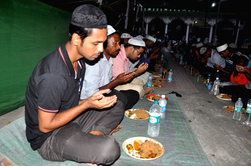 Muslims break their fast on the first day of Ramadan in Guwahati on May 28, 2017.