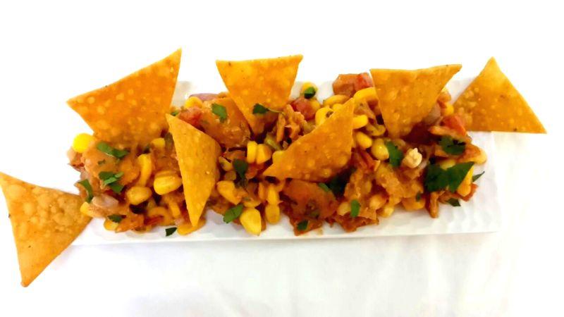 Nacho and corn chaat