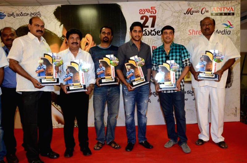 Naga Chaitanya and Samantha during Telugu Movie `Auto Nagar Surya` Platinum disc function in Hyderabad on June 26, 2014.
