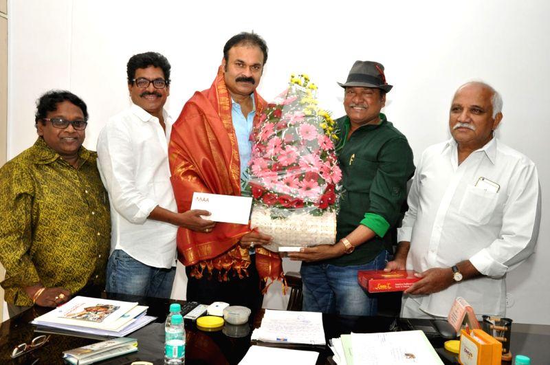 Nagababu birthday cerlebrations held at Movie Artists Association today in Hyderabad.