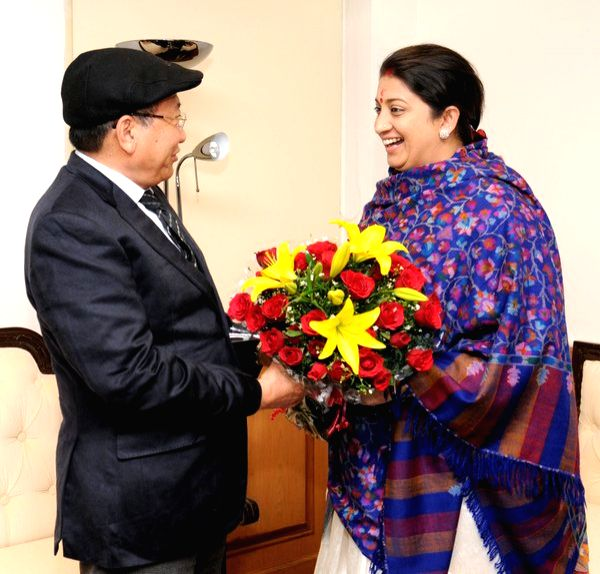 Nagaland CM calls on HRD minister Smriti Irani in Delhi, discusses set up of region's first school of planning and architecture - Smriti Irani
