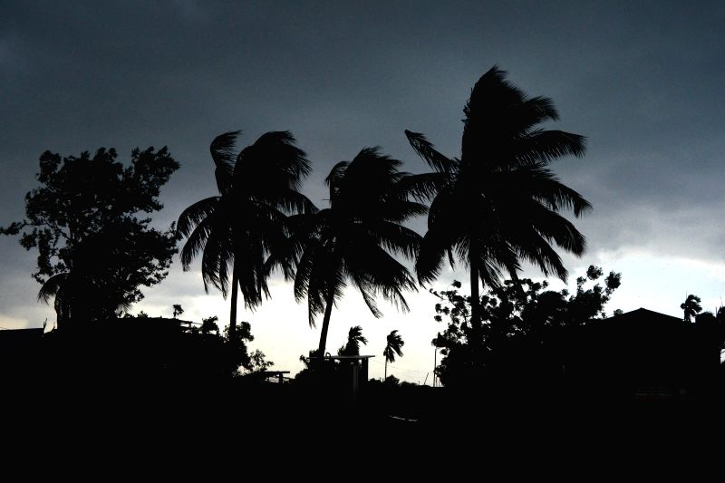 Dark clouds loom over Nagaon, Assam on April 28, 2015.