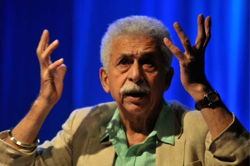 Actor Naseeruddin Shah during a programme organised by Saptak and Chhaya Dixit welfare foundation at Vasantrao Deshpande hall in Nagpur on April 9, 2015. - Chhaya Dixit