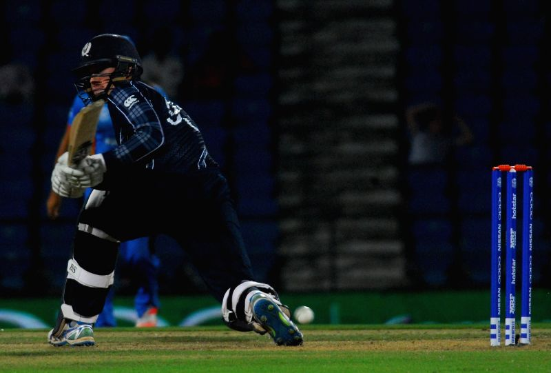 Nagpur: Scotland`s George Munsey in action during the 2nd Match (First Round, Group B) of ICC World T20 between Afghanistan and Scotland at Vidarbha Cricket Association Stadium in Nagpur on March 8, 2016. (Photo: Nitin Lawate/IANS)