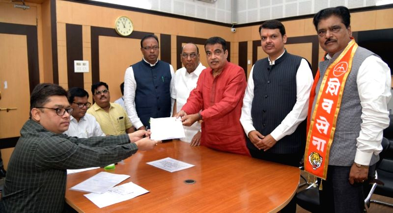 Union Minister and BJP's Lok sabha candidate from Nagpur, Nitin Gadkari files his nomination for 2019 Lok Sabha elections