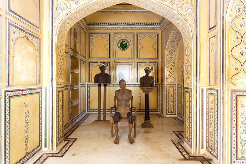 An installation in the gallery of Nahargarh.