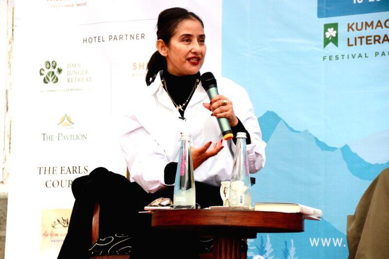 Nainital: Actor-author Manisha Koirala during the fourth edition of Himalayan Echoes: Kumaon Festival of Literature and Arts in Nainital on Oct 20, 2019. (Photo: IANS)