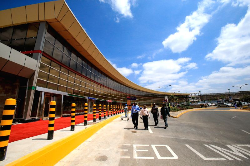 Photo taken on July 4, 2014 shows the exterior scene of the new terminal of Jomo Kenyatta International Airport (JKIA) in Nairobi, capital of Kenya. The JKIA new ...
