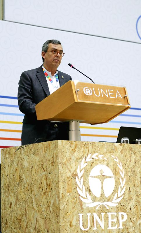 NAIROBI, May 23, 2016 - Edgar Gutierrez, President of UNEA-2, who is also the environment and energy minister of Costa Rica, speaks during the opening ceremony of the second edition of the United ...