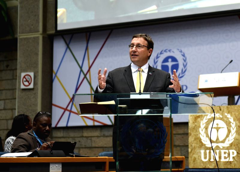 NAIROBI, May 25, 2016 - UN Environment Programme (UNEP) Executive Director Achim Steiner speaks during a ministerial conference about illegal wildlife trade of the ongoing second edition of the ...