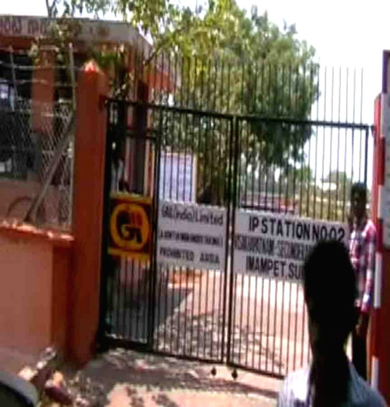 A gas pipeline blast left two killed and three injured in the Nalgonda District of Telangana, on April 4, 2015.