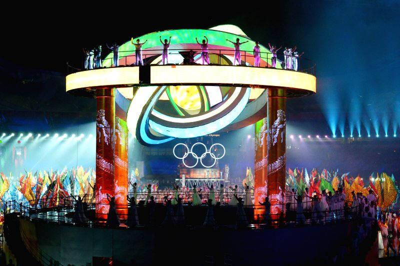 Artists perform during the Nanjing 2014 Youth Olympic Games opening ceremony in Nanjing, capital of east China?s Jiangsu Province.