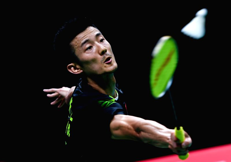 NANJING, Aug. 3, 2018 - Chen Long of China competes during the men's singles quarterfinal match against Viktor Axelsen of Denmark at the BWF (Badminton World Federation) World Championships 2018 in ...