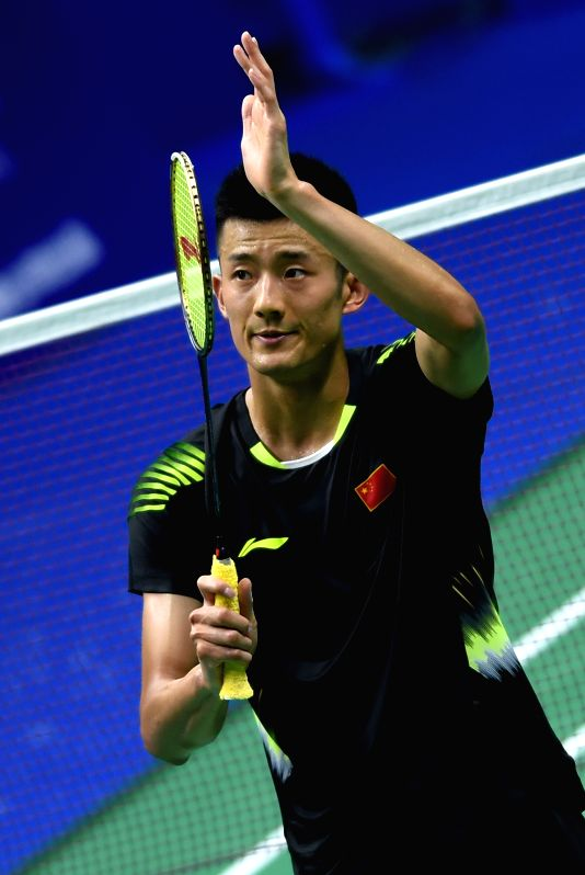 NANJING, July 30, 2018 - Chen Long of China celebrates after winning the first round match against Hsu Jen Hao of Chinese Taipei at the 2018 BWF World Championships in Nanjing, capital of east ...