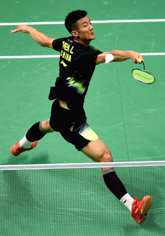 NANJING, July 30, 2018 - Chen Long of China returns a shot during the first round match against Hsu Jen Hao of Chinese Taipei at the 2018 BWF World Championships in Nanjing, capital of east China's ...
