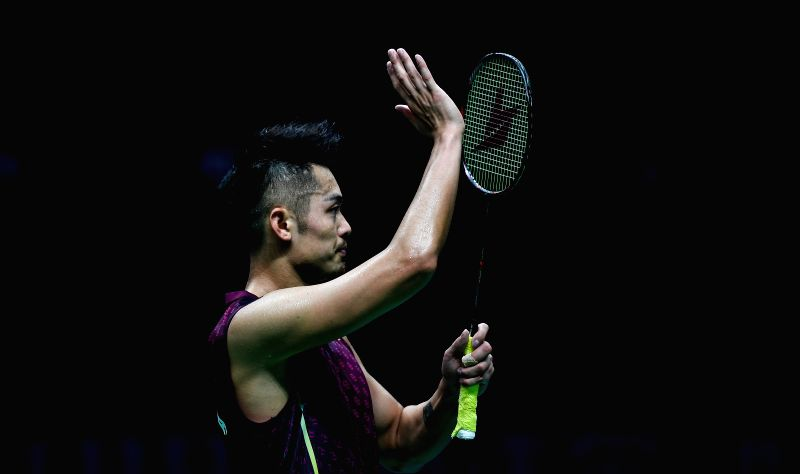 NANJING, July 30, 2018 - Lin Dan of China celebrates after the first round match against Mark Caljouw of the Netherlands at the 2018 BWF World Championships in Nanjing, capital of east China's ...