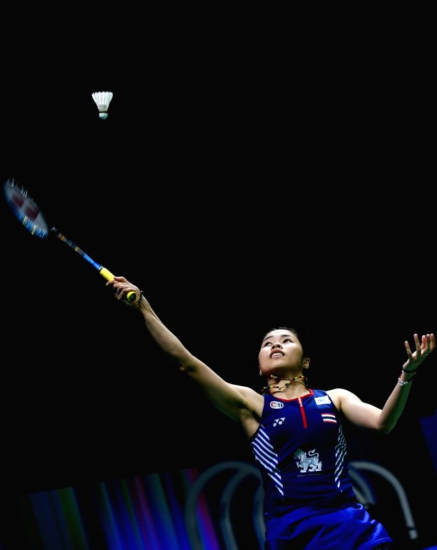 NANJING, July 31, 2018 - Ratchanok Intanon of Thailand returns a shot during the women's singles round 2 match against Mia Blichfeldt of Denmark at the BWF World Championships in Nanjing, capital of ...