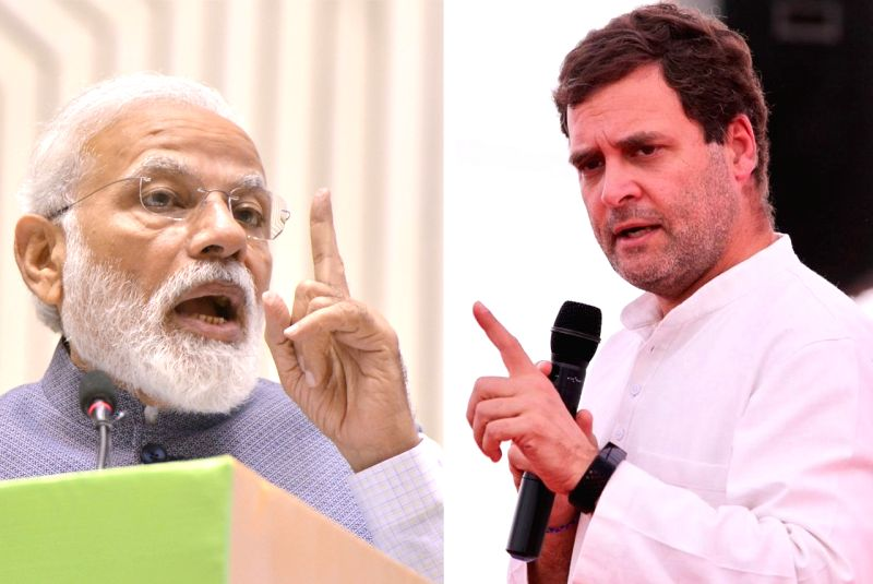 Narendra Modi and Rahul Gandhi. (Image Source: IANS)