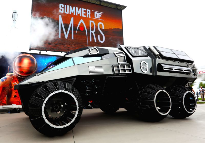 NASA recently unveiled a Mars rover concept vehicle at the Kennedy Space Centre Visitor Complex. (Photo: NASA)