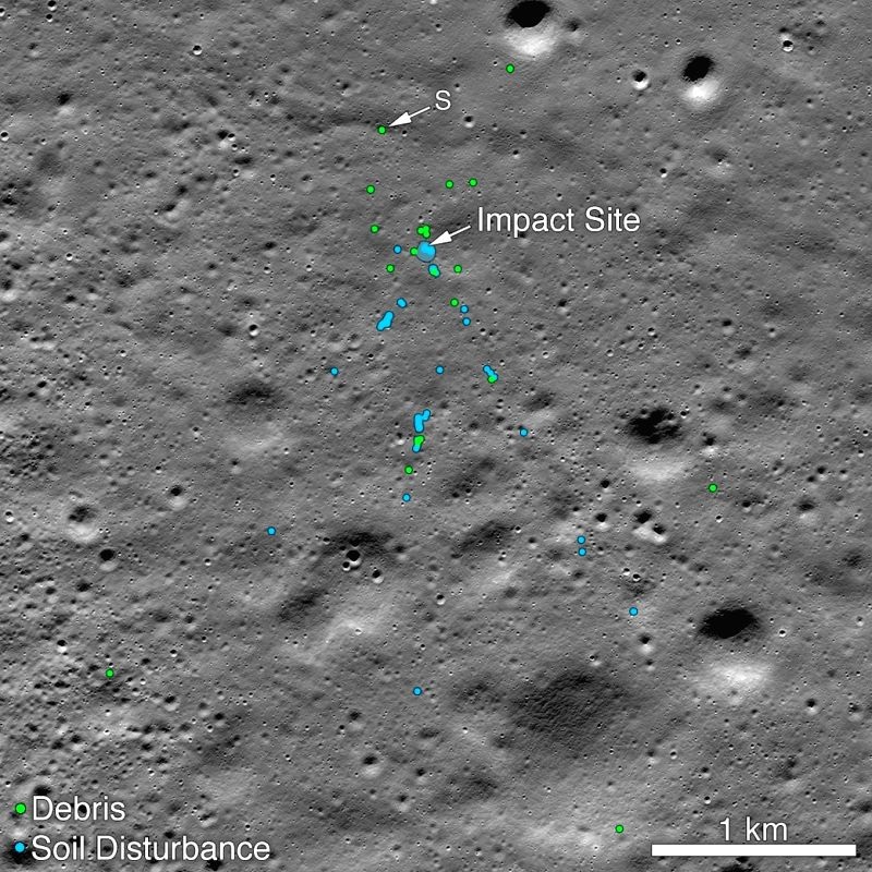 NASA released a picture taken before Vikram moonlander crashed on the moon shows the area with the soil undisturbed. The picture was used for comparison with pictures taken after the crash to determine the crash site. (Photo: NASA Goddard/Arizona Sta