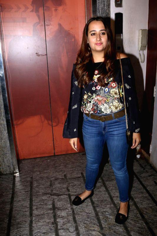 Natasha Dalal during the special screening of film Badrinath Ki Dulhaniya in Mumbai on March 6, 2017.