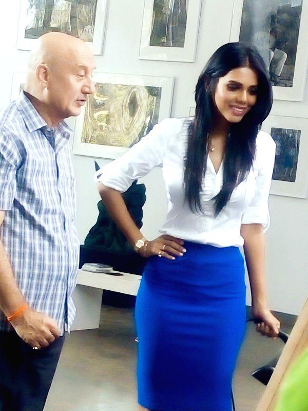 Natasha Suri with Anupam Kher