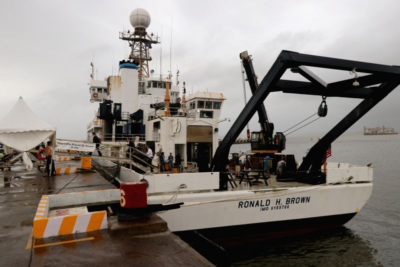 National Oceanic and Atmospheric Administration (NOAA) Ship Ronald H. Brown, the organisation's largest research vessel, docked at the Mormugao Port in Goa as part of the second India-US ...