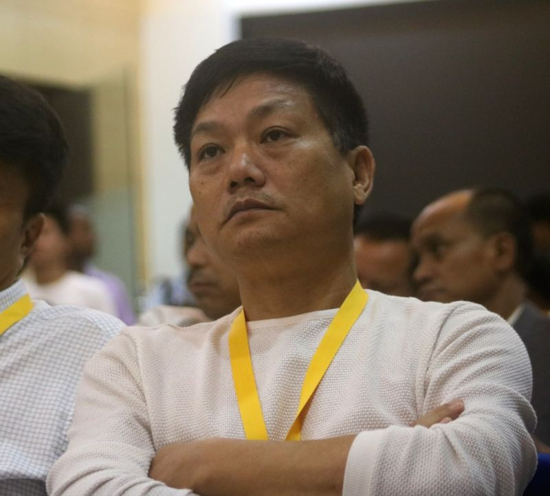 National People's Party (NPP) MLA Nikh Kamin during the party's National Executive Committee Meeting, in New Delhi on July 21, 2018.