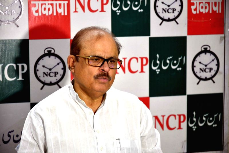 Nationalist Congress Party (NCP) leader Tariq Anwar addresses a press conference in Patna on Aug 4, 2018.