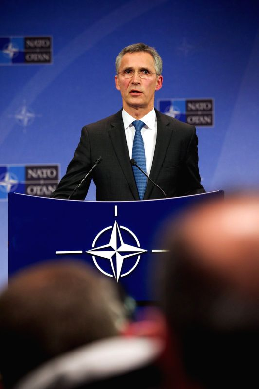 NATO Secretary General Jens Stoltenberg addresses a press conference at its headquarters in Brussels, Belgium, Nov. 24, 2015. NATO Secretary General Jens ...