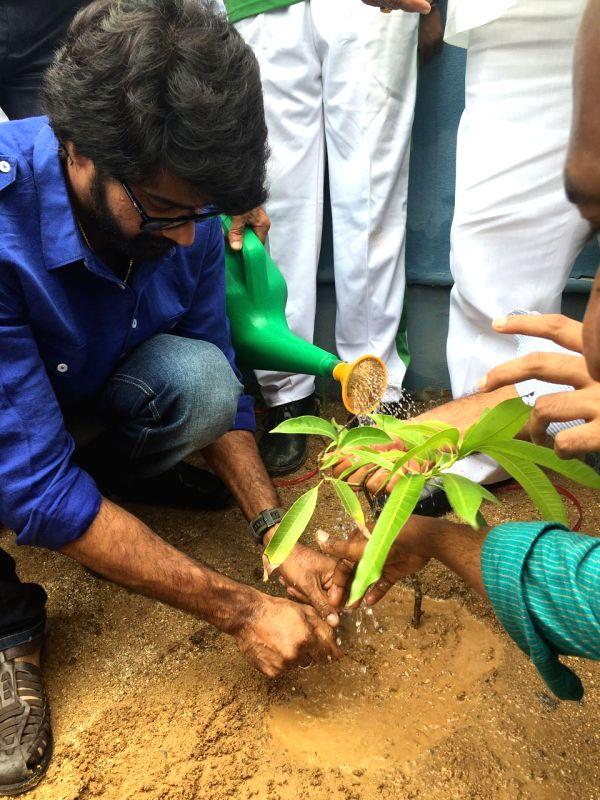 Naveen chandra Participating in Plantation.