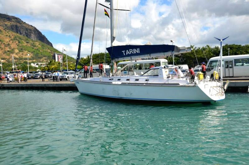 Navy\'s new sailing vessel with all-woman crew reaches Mauritius
