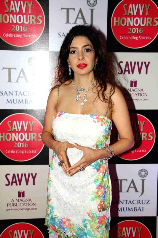 Nawaz Modi Singhania, wife of Gautam Singhania, CMD, Raymond Group during the SAVVY Honours Award for Women Entrepreneur in Mumbai on July 24, 2016. - Nawaz Modi Singhania