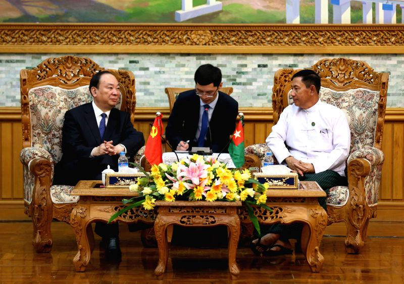 NAY PYI TAW, July 11, 2018 - Huang Kunming (L), member of the Political Bureau of the Communist Party of China (CPC) Central Committee and head of the Publicity Department of the CPC Central ...