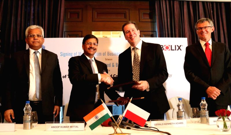 NBCC Chairman and Managing Director Anoop Kumar Mittal with Bolix Executive Chairman Gerald Kenneth Adams during a programme organised to sign memorandum of business exploration (MoBE) ... - Anoop Kumar Mittal