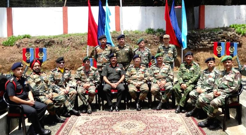 NCC Additional Director General U S Dadu, during a meeting with Group Commanders from Assam, Arunachal Pradesh, Meghalaya, Tripura, Mizoram, Nagaland and Manipur during the three day long NCC Group ..