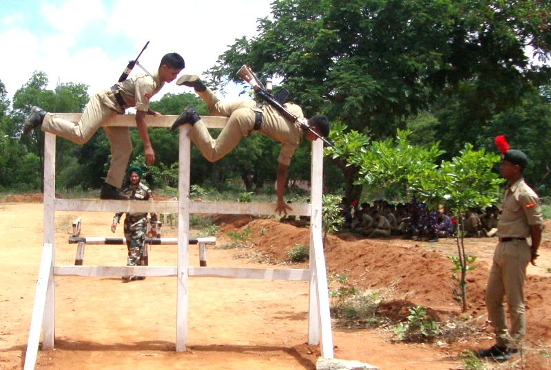 NCC Cadets participate in Combined Annual Training Camp at 7 Karnataka Battalion NCC, in Bengaluru, on July 20, 2018.