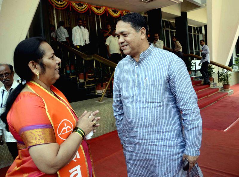 Neelam Gorhe (L). (Photo: Sandeep Mahankal/IANS)