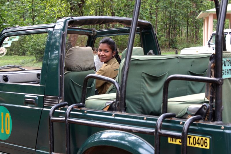 Neeta Markam, who just cleared her 12th standard examination, is among the first women forest gypsy drivers.