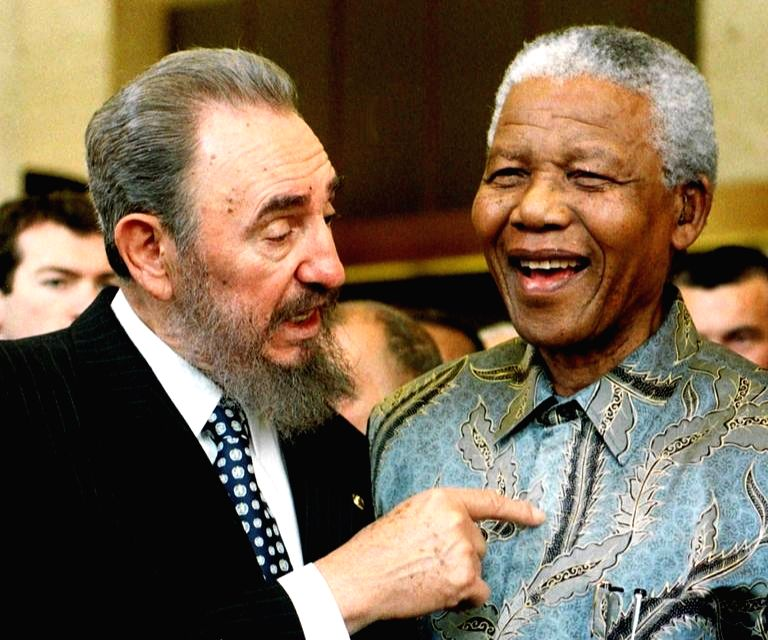 Nelson Mandela with another iconic statesman and admirer