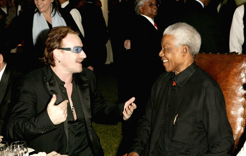 Nelson Mandela with close friend Bono