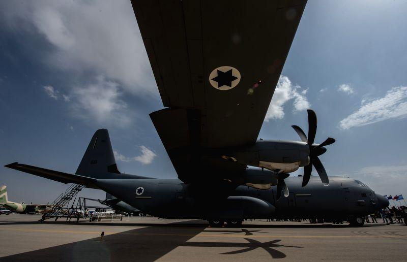 NEVATIM AIR BASE (ISRAEL), April 11, 2014 A Super Hercules C-130J is seen at Nevatim Air Base near Beer Sheva, southern Israel, on April 9, 2014. The Super Hercules C-130J was inaugurated