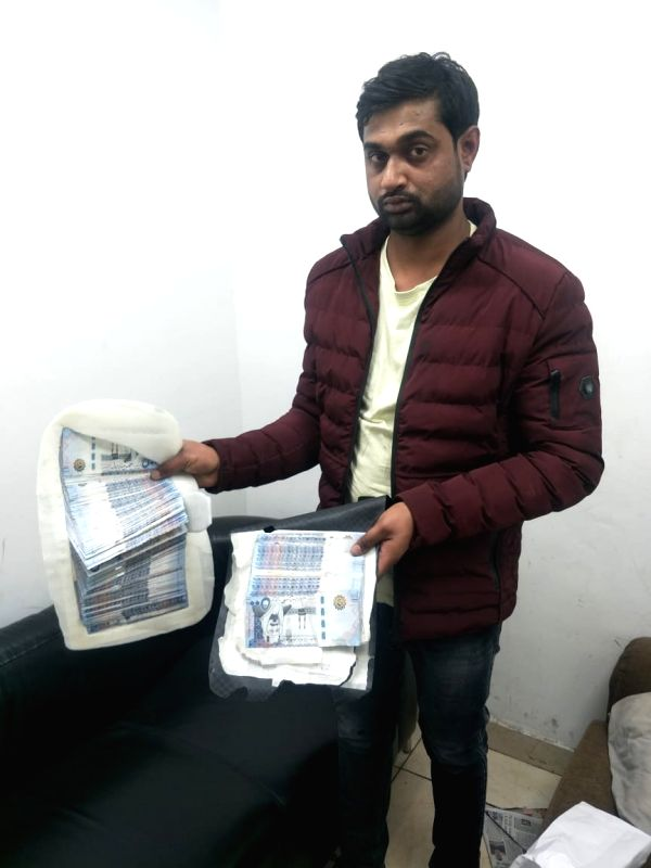 New Delhi: 40,000 Saudi Riyal worth 20.90 lakh Indian Rupees were recovered from the false cavity of a passenger's backpack by Central Industrial Security Force (CISF) surveillance and intelligence staff at the Indira Gandhi International (IGI) Airpo